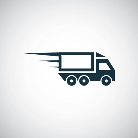 fast truck icon trendy simple symbol concept template
