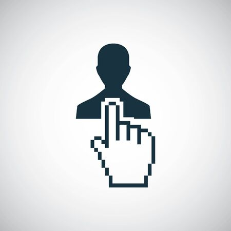 hand select man icon trendy simple symbol concept template