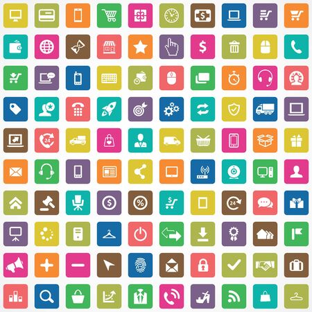 e-commerce 100 icons universal set for web and mobile. Stock fotó - 131104458