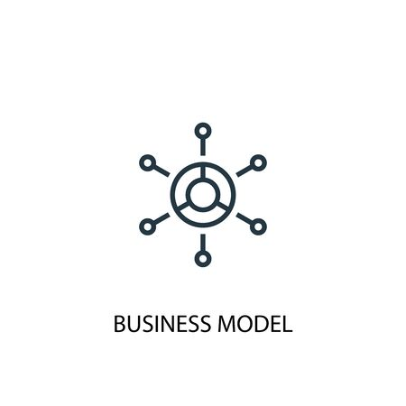business model icon. Simple element illustration. business model concept symbol design. Can be used for web