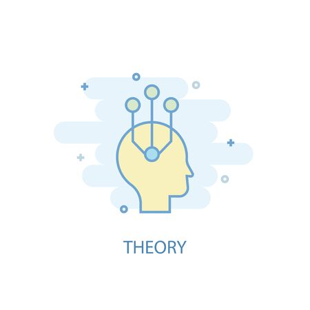 theory line concept. Simple line icon, colored illustration. theory symbol flat design. Can be used for UI