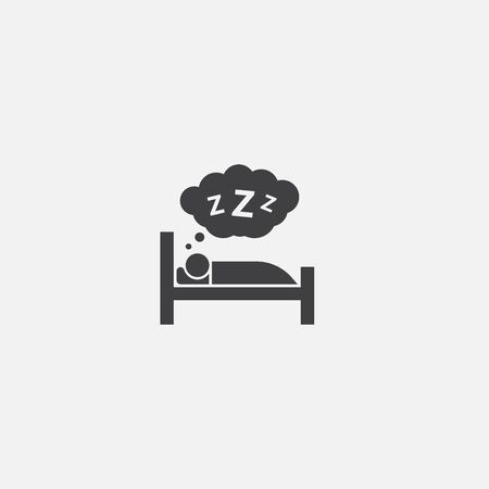 healthy sleeping base icon. Simple sign illustration. healthy sleeping symbol design. Can be used for web and mobile