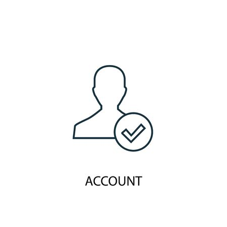 account concept line icon. Simple element illustration. account concept outline symbol design. Can be used for web and mobile UI Foto de archivo - 131332994