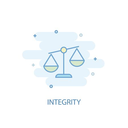 integrity line concept. Simple line icon, colored illustration. integrity symbol flat design