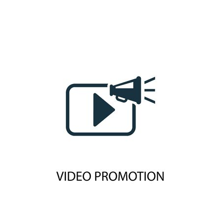 video promotion icon. Simple element illustration. video promotion concept symbol design. Can be used for web
