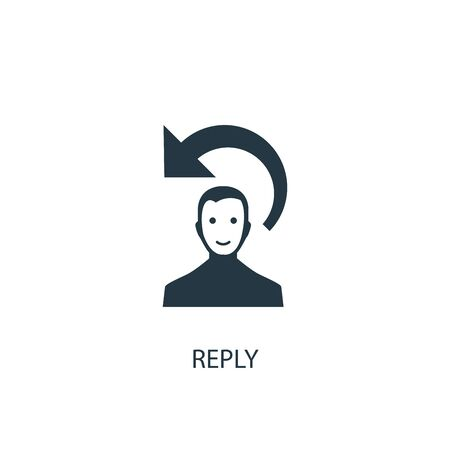 reply icon. Simple element illustration. reply concept symbol design. Can be used for web and mobile.