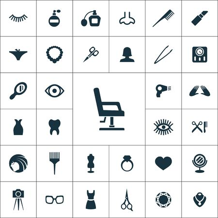 beauty salon icons universal set for web and mobile. Standard-Bild - 131355196