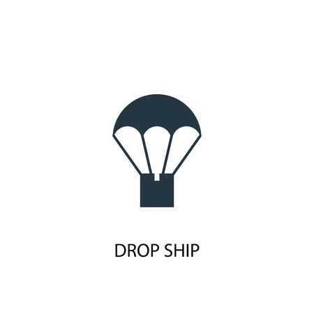 drop ship icon. Simple element illustration. drop ship concept symbol design. Can be used for web and mobile. Stock Illustratie