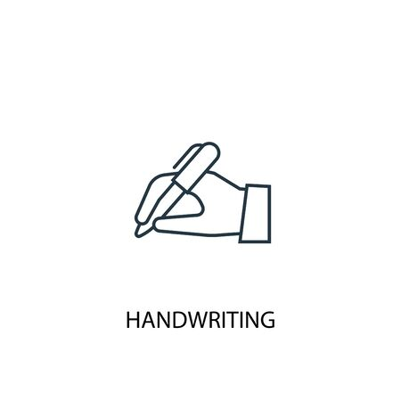 handwriting concept line icon. Simple element illustration. handwriting concept outline symbol design. Can be used for web and mobile UI