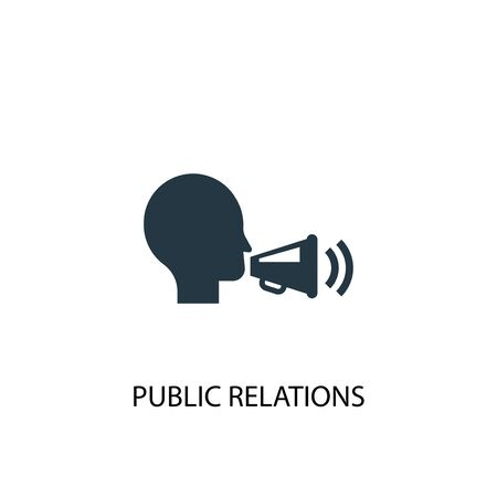 public relations icon. Simple element illustration. public relations concept symbol design. Can be used for web and mobile. Ilustracja