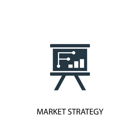 market strategy icon. Simple element illustration. market strategy concept symbol design. Can be used for web and mobile. Çizim