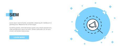 SEM line icon. Simple icon, banner outline template concept. SEM line icon. Simple line illustration Illustration