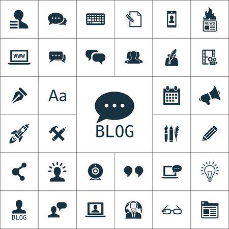 blog icons universal set for web and mobile
