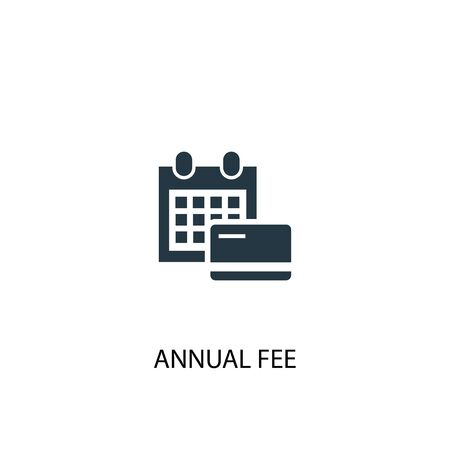 Icône de frais annuels. Illustration d'élément simple. Conception de symbole de concept de frais annuels. Peut être utilisé pour le Web et le mobile. Vecteurs