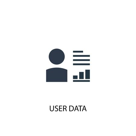 user data icon. Simple element illustration. user data concept symbol design. Can be used for web and mobile. Illustration