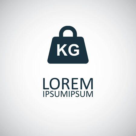 icône de poids kg, sur fond blanc. Vecteurs