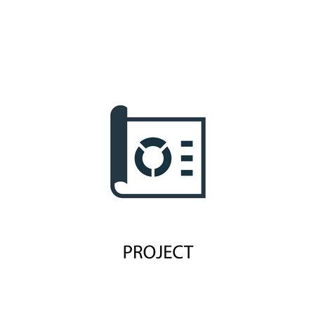icono de proyecto. Ilustración de elemento simple. diseño de símbolo de concepto de proyecto. Se puede utilizar para web y móvil.