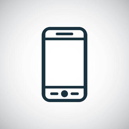 smartphone icon, on white background.