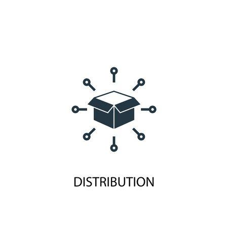 icono de distribución. Ilustración de elemento simple. diseño de símbolo de concepto de distribución. Se puede utilizar para web y móvil. Ilustración de vector