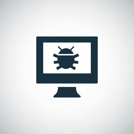 computer bug icon, on white background.
