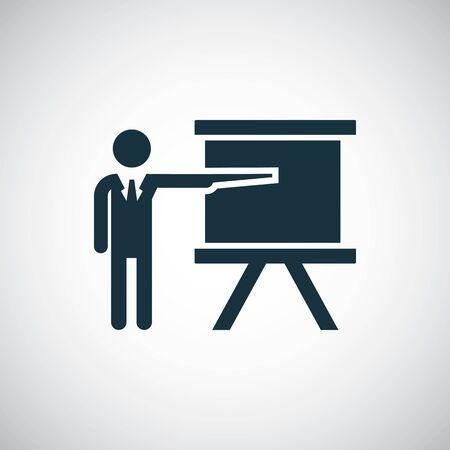teacher icon, on white background.