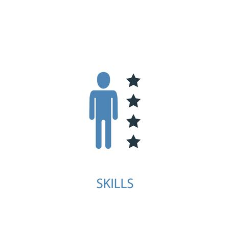 skills concept 2 colored icon. Simple blue element illustration. skills concept symbol design. Can be used for web and mobile