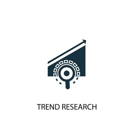 trend research icon. Simple element illustration. trend research concept symbol design. Can be used for web