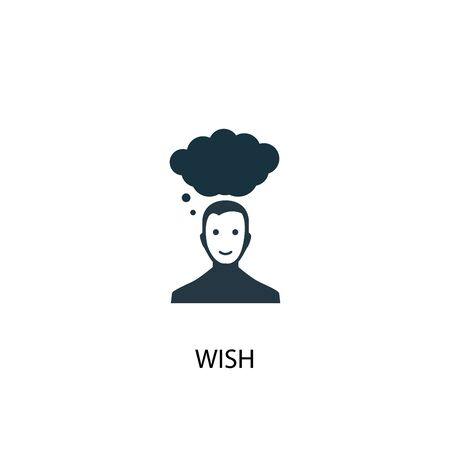 wish icon. Simple element illustration. wish concept symbol design. Can be used for web and mobile. Çizim