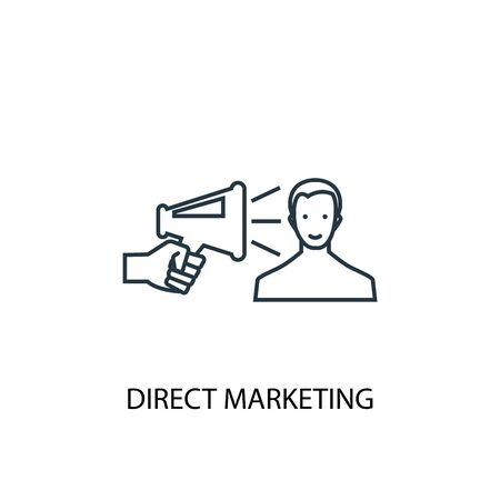 Direct Marketing concept line icon. Simple element illustration. Direct Marketing concept outline symbol design. Can be used for web and mobile