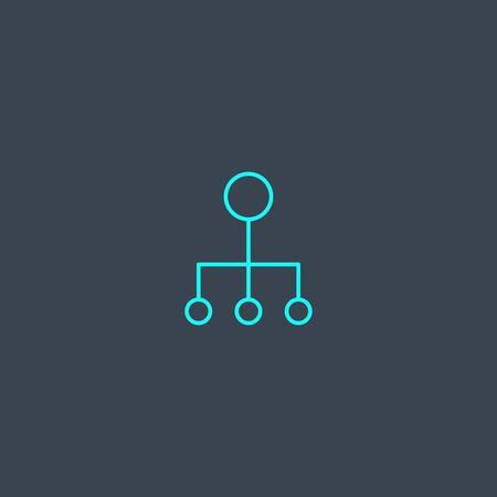conduct concept blue line icon. Simple thin element on dark background. conduct concept outline symbol design. Can be used for web and mobile UI