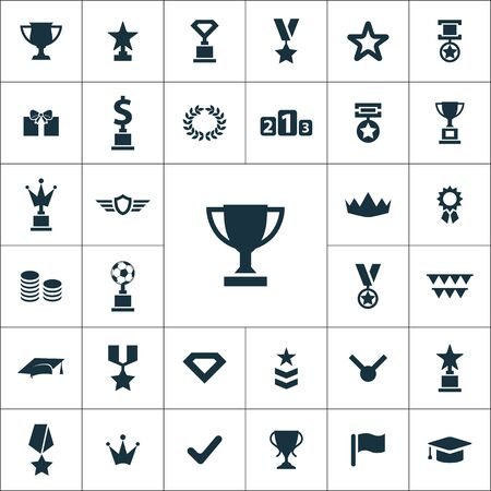 award icons universal set for web and mobile  イラスト・ベクター素材