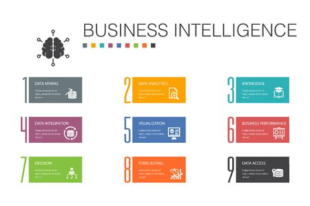 Business intelligence Infographic 10 option line concept.data mining, knowledge, visualization, decision simple icons