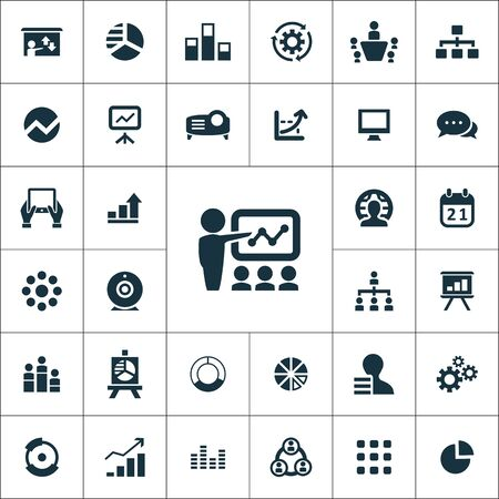 presentation icons universal set for web and mobile. Иллюстрация