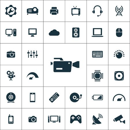 technology icons universal set for web and mobile.