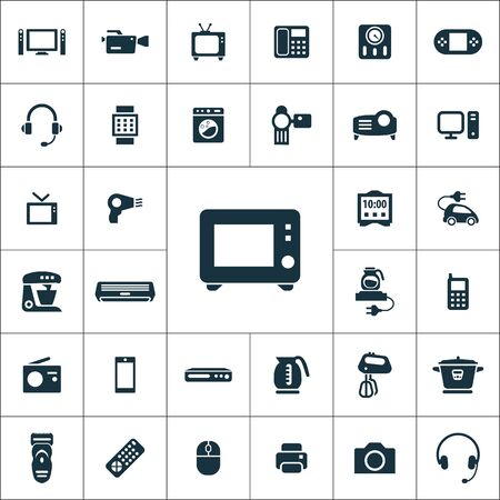 electronics icons universal set for web and mobile.