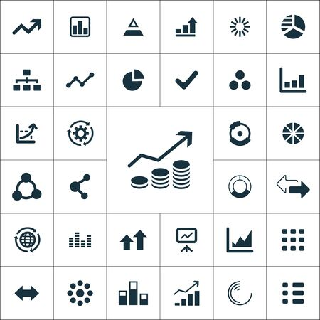 infographics icons universal set for web and mobile.