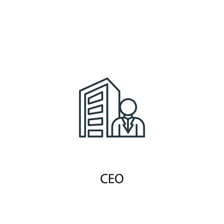 CEO concept line icon. Simple element illustration. CEO concept outline symbol design. Can be used for web and mobile UI 向量圖像