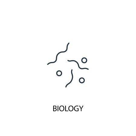 biology concept line icon. Simple element illustration. biology concept outline symbol design. Can be used for web and mobile UI Ilustracja
