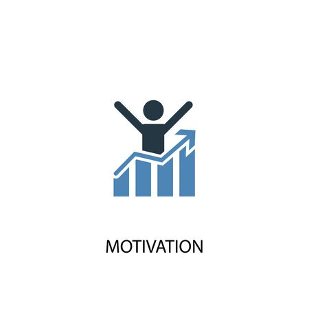 motivation concept 2 colored icon. Simple blue element illustration. motivation concept symbol design. Can be used for web and mobile UI