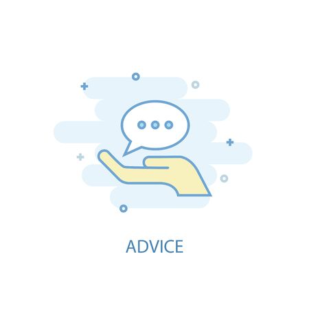 advice line concept. Simple line icon, colored illustration. advice symbol flat design. Can be used for