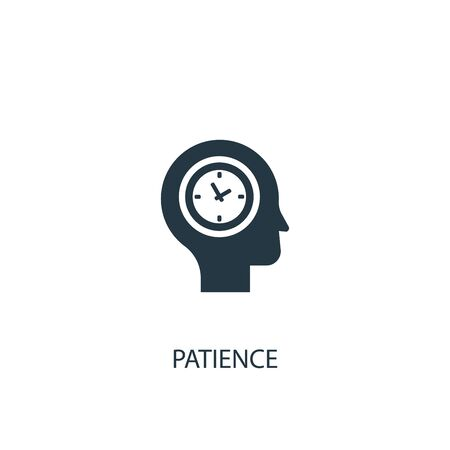 patience icon. Simple element illustration. patience concept symbol design. Can be used for web