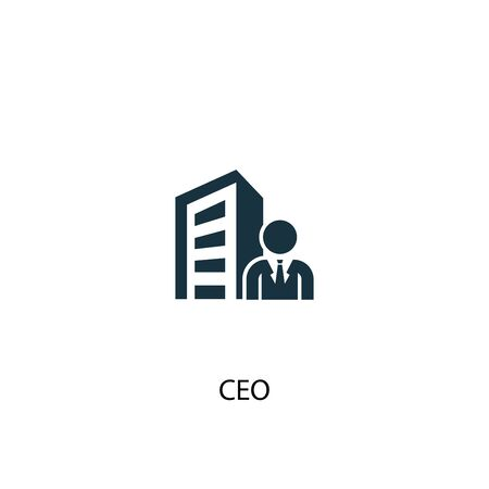 CEO icon. Simple element illustration. CEO concept symbol design. Can be used for web and mobile. 向量圖像