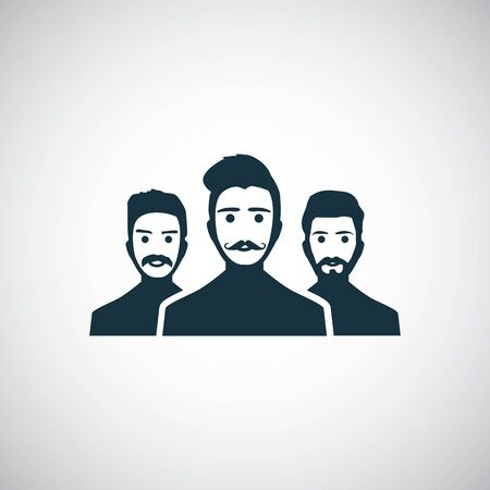 hipster team icon, on white background.