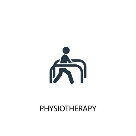 physiotherapy icon. Simple element illustration. physiotherapy concept symbol design. Can be used for web and mobile.
