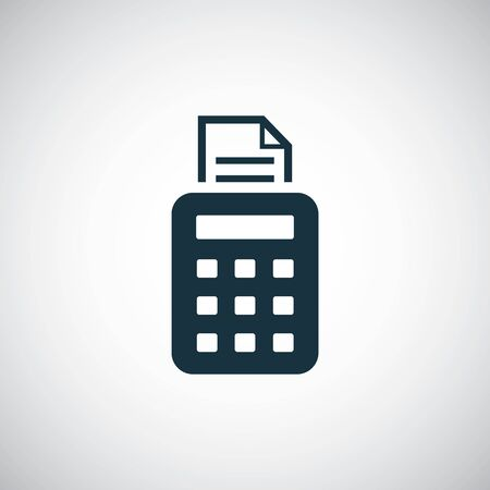 pos terminal icon simple flat element design concept Ilustrace