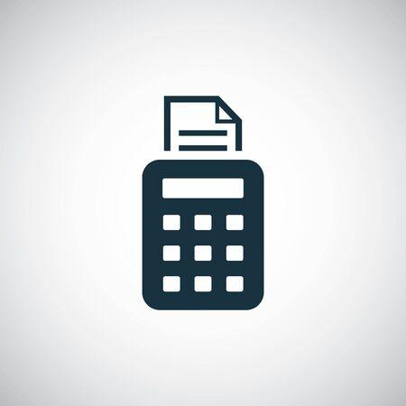 pos terminal icon simple flat element design concept Reklamní fotografie - 132571577