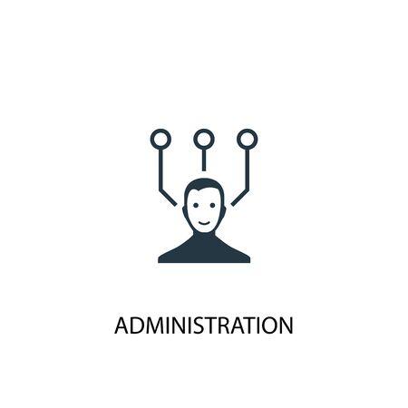 icône de gestion. Illustration d'élément simple. conception de symbole de concept d'administration. Peut être utilisé pour le Web et le mobile.