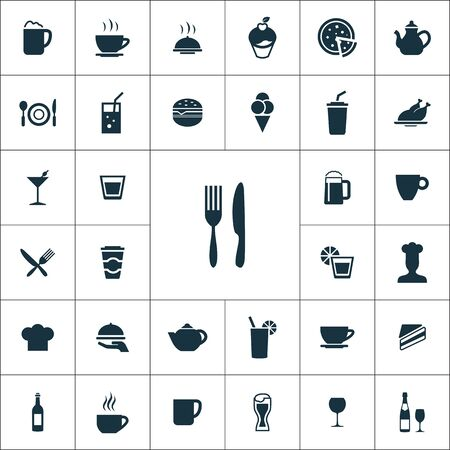 cafe icons universal set for web and mobile.