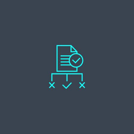regulation concept blue line icon. Simple thin element on dark background. regulation concept outline symbol design. Can be used for web and mobile UI Illustration