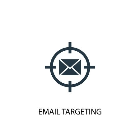 email targeting icon. Simple element illustration. email targeting concept symbol design. Can be used for web and mobile. Illustration